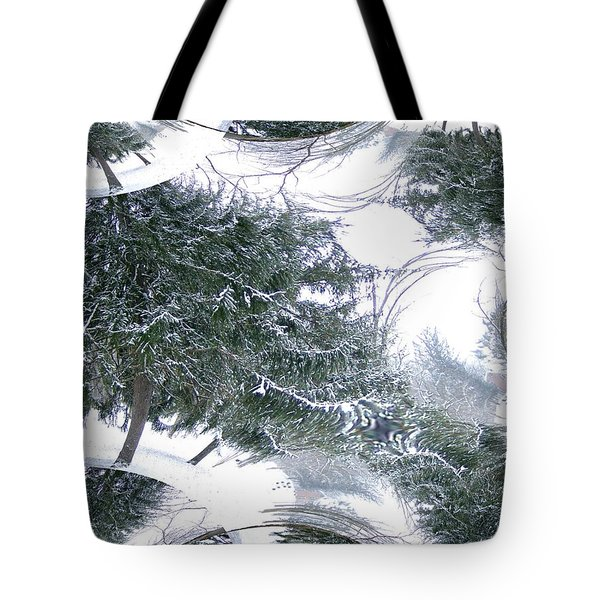 Tote Bag featuring the photograph A Winter Fractal Land by Skyler Tipton