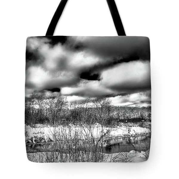Tote Bag featuring the photograph A Winter Panorama by David Patterson