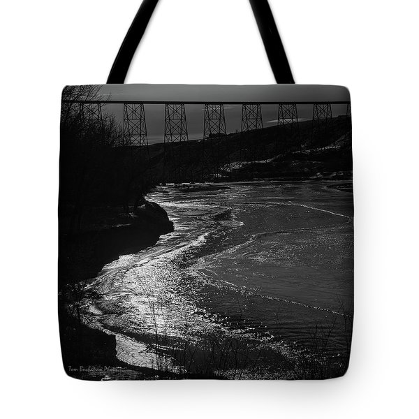 A Winter River Tote Bag