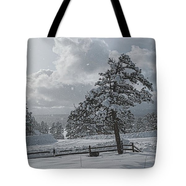 Tote Bag featuring the photograph A Winter Storm In Pagosa by Jason Coward
