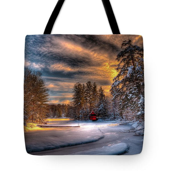 A Winter Sunset Tote Bag