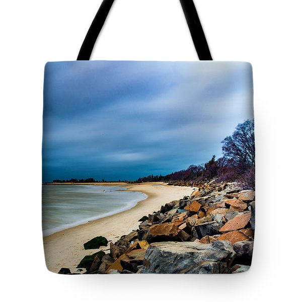 A Winter's Beach Tote Bag
