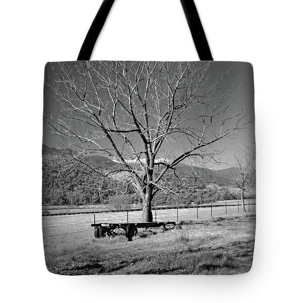 A Wintery Stand Tote Bag