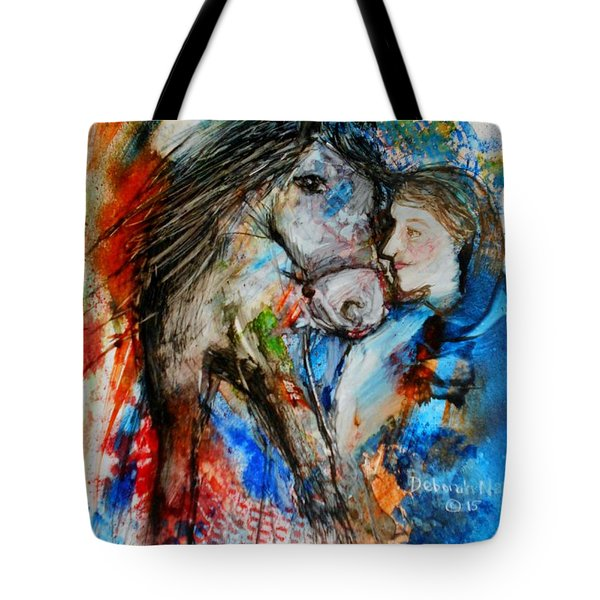 A Woman And Her Horse Tote Bag