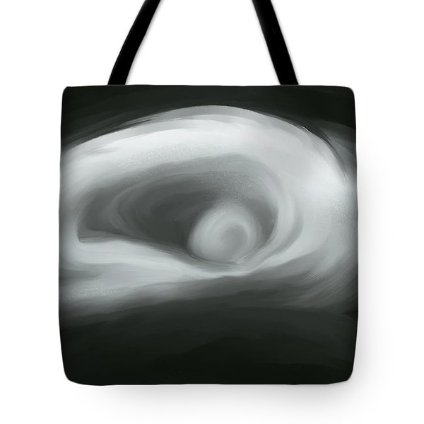 A Woman In Black And White Tote Bag by Jeff Breiman