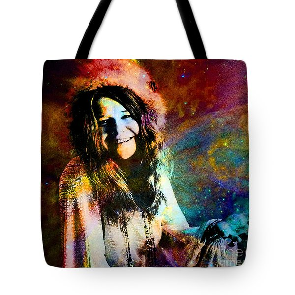 A Woman Of 1970 Rock And Roll Tote Bag