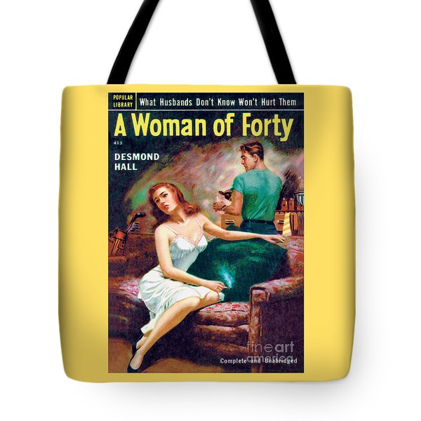 Tote Bag featuring the painting A Woman Of Forty by Bernard Barton