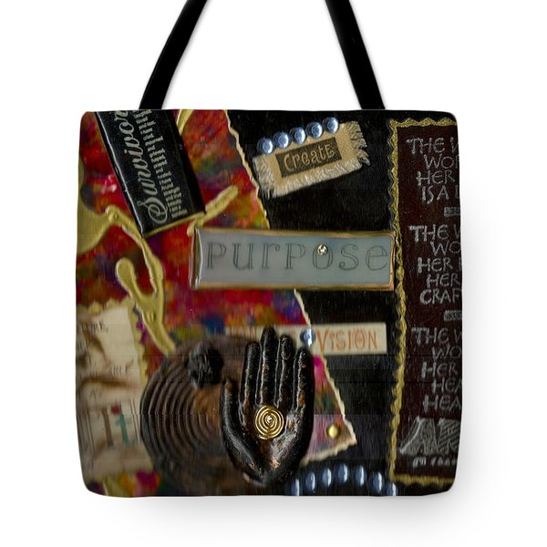 A Woman With Purpose Tote Bag