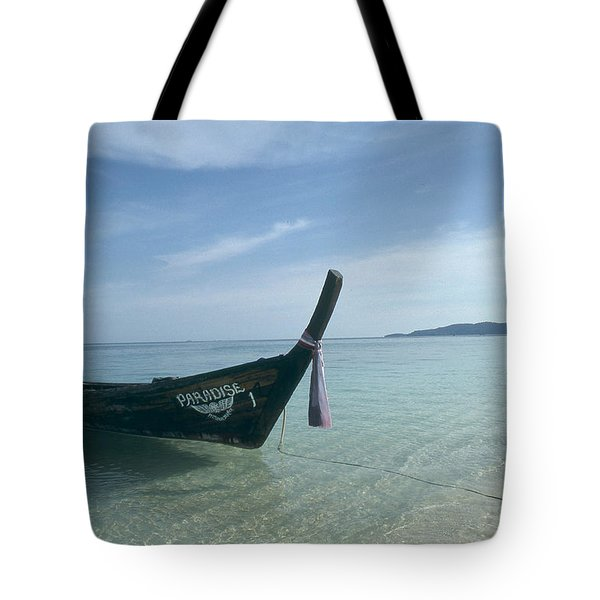 A Wooden Boat Named Paradise Tote Bag