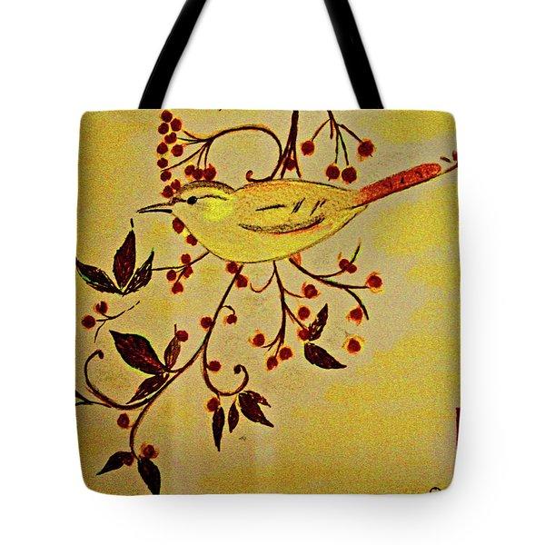 A Wren - In Pastel  Tote Bag