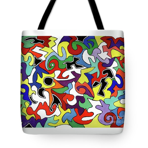 Tote Bag featuring the painting A Wren's Life by Victoria Bosman