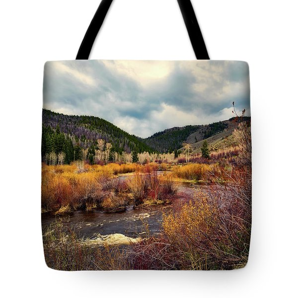 A Wyoming Autumn Day Tote Bag by L O C