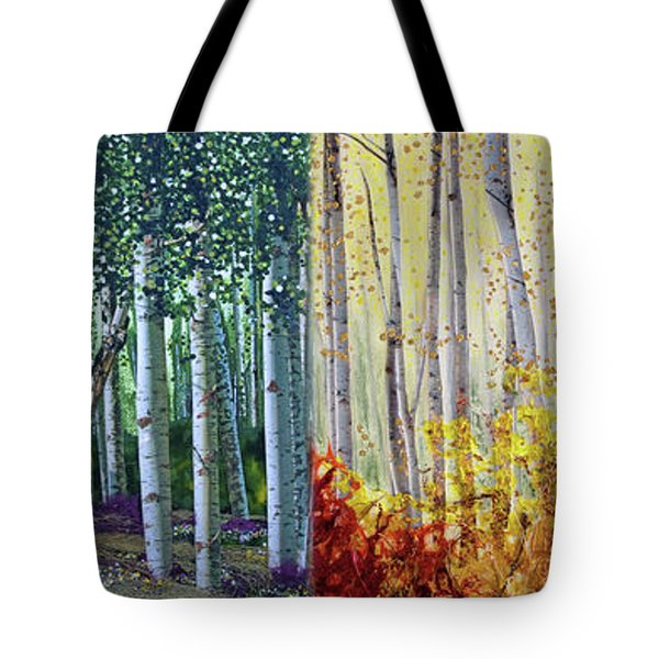 A Year In A Birch Forest Tote Bag