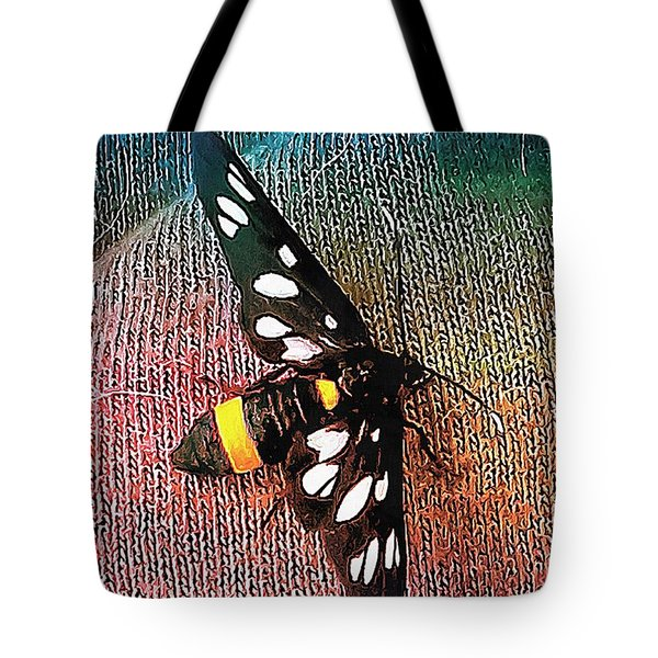 A Yellow Belted Burnet Tote Bag