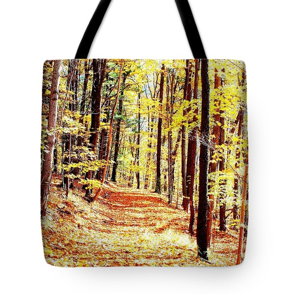 A Yellow Wood Tote Bag