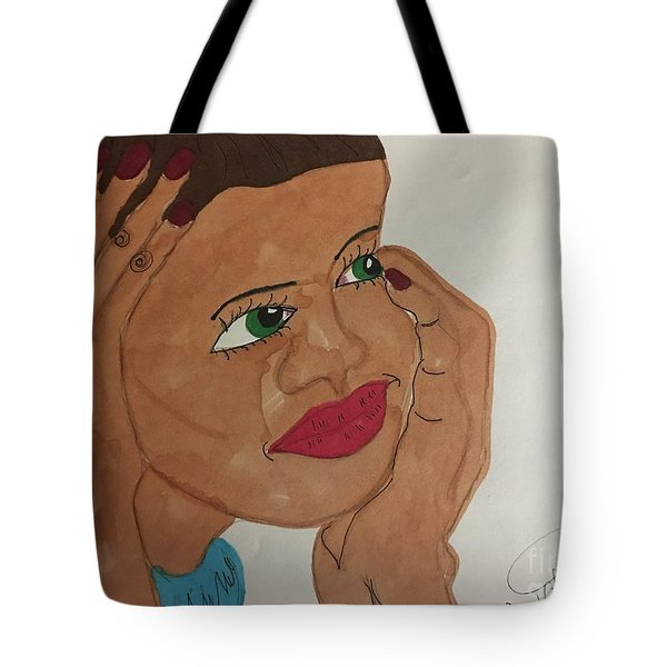 A Young Woman  Tote Bag
