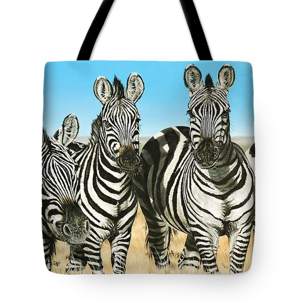 A Zeal Of Zebras Tote Bag