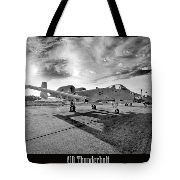 A10 Thunderbolt Tote Bag by Greg Fortier