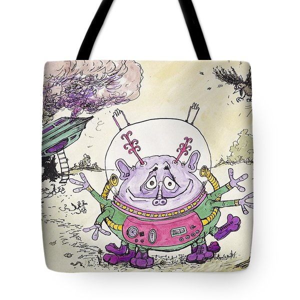 I Have Come From Mars.... I Think..... Tote Bag by Charles Cater
