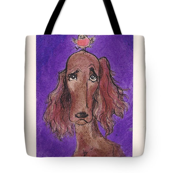 a7  Christmas Setter Tote Bag by Charles Cater