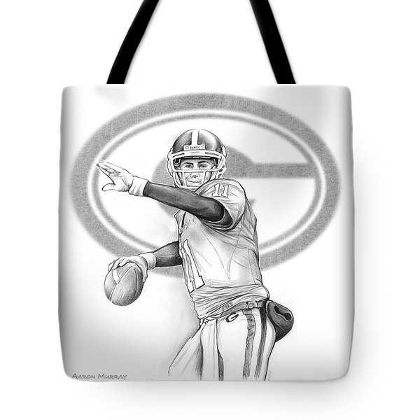 Aaron Murray Tote Bag by Greg Joens