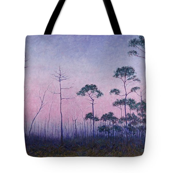 Abaco Pines At Dusk Tote Bag