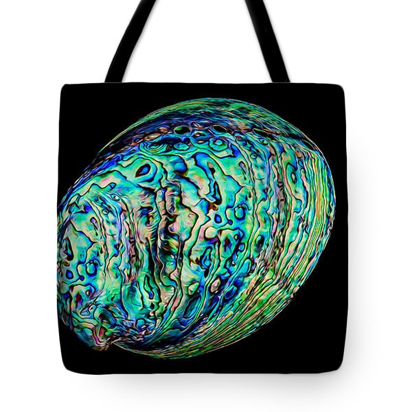 Abalone On Black Tote Bag