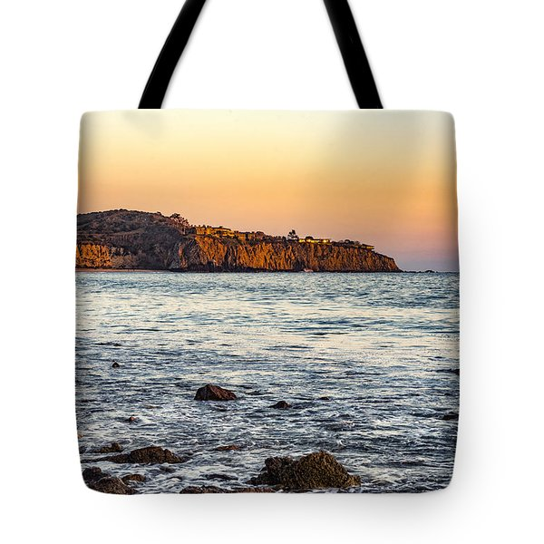 Tote Bag featuring the photograph Abalone Point Sunset by Anthony Baatz