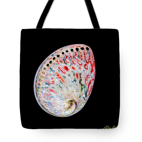 Tote Bag featuring the photograph Abalone - Touches Of Red by Rikk Flohr