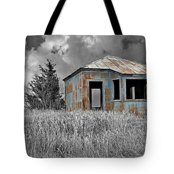 Abandon Railroad Shack Tote Bag