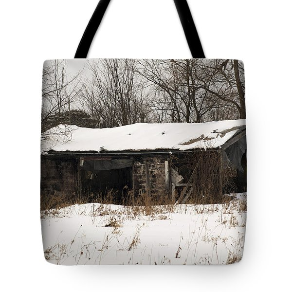 Abandoned And Cold Tote Bag by Elaine Mikkelstrup