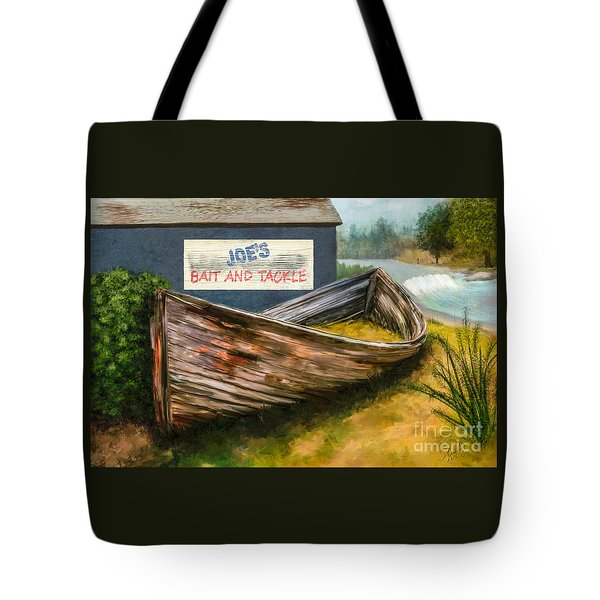 Painting Of Abandoned And Rotted Out Boat   Tote Bag