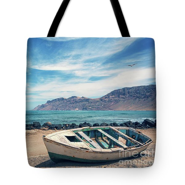 Abandoned Boat Tote Bag by Delphimages Photo Creations