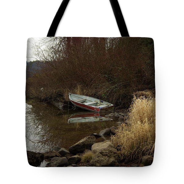 Abandoned Boat II Tote Bag