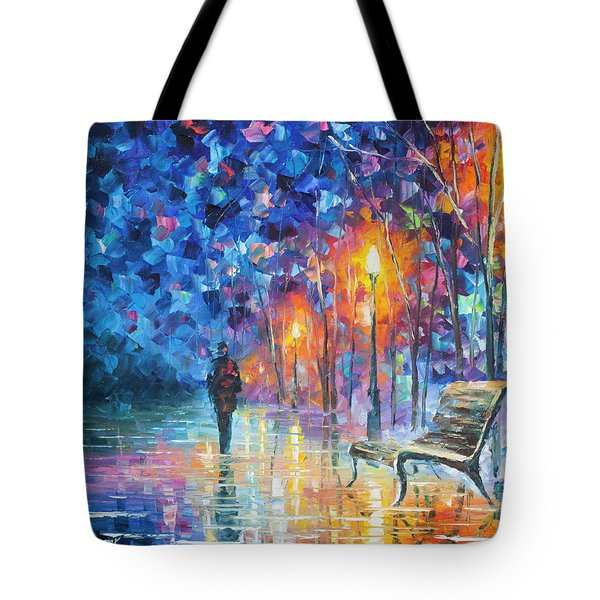 Abandoned By Winter Tote Bag by Leonid Afremov