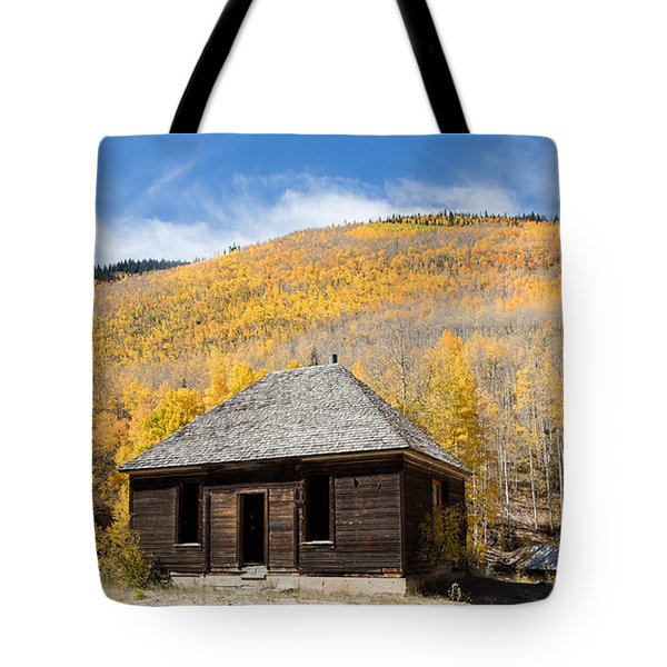 Abandoned Cabin Near The Old Mining Town Of Ironton Tote Bag by Carol M Highsmith