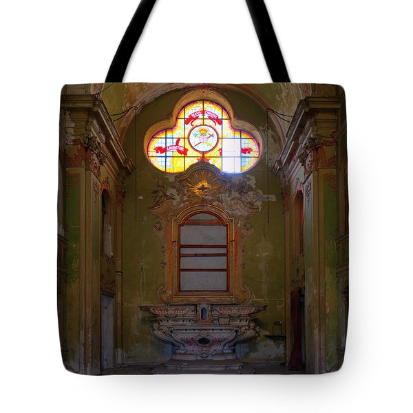 Abandoned Chapel Of An Important Liguria Family I - Cappella Abbandonata Di Famiglia Ligure 1 Tote Bag
