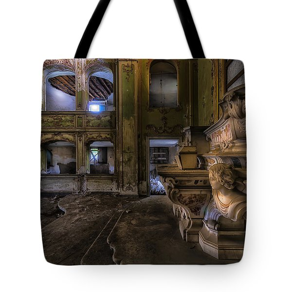 Tote Bag featuring the photograph Abandoned Chapel Of An Important Liguria Family II - Cappella Abbandonata Di Famiglia Ligure 2 by Enrico Pelos