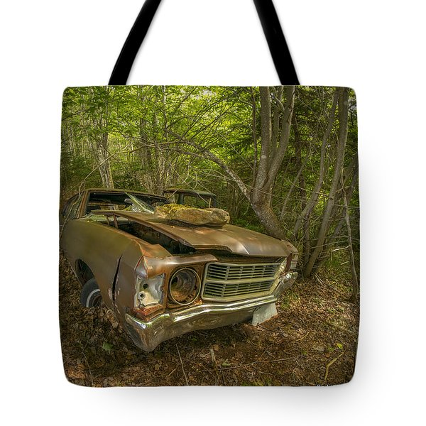 Abandoned Chevelle In Cape Breton Tote Bag by Ken Morris