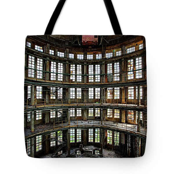 Abandoned Factory Hall - Industrial Decay Tote Bag