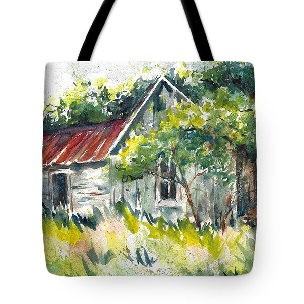 Abandoned Farmhouse In The Ozark Mountains On The Gravel Road To Hawk's Bill Crag At Whitaker Point Tote Bag