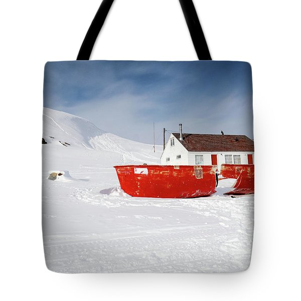 Abandoned Fishing Boat Tote Bag by Nick Mares
