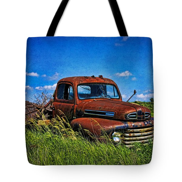 Abandoned Ford Truck In The Prairie Tote Bag