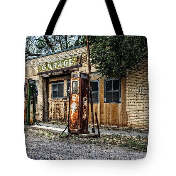 Abandoned Garage Tote Bag