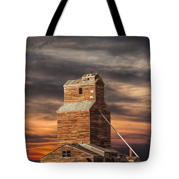 Abandoned Grain Elevator On The Prairie Tote Bag by Randall Nyhof