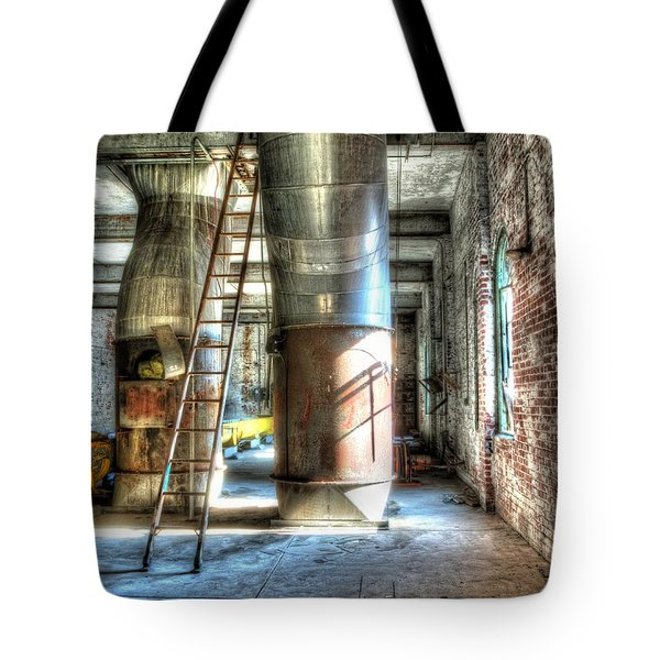 Abandoned Grain Silo Tote Bag by Darleen Stry