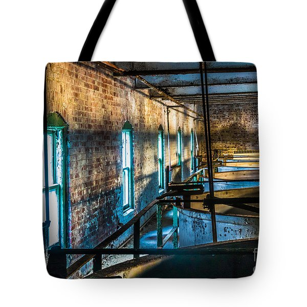 Abandoned Grain Vats Tote Bag by Darleen Stry
