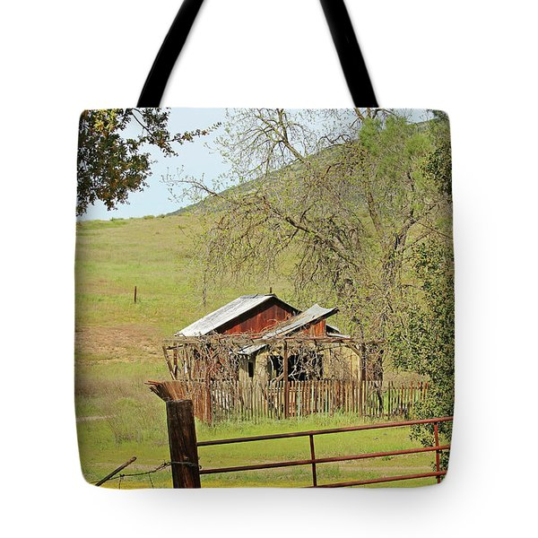 Tote Bag featuring the photograph Abandoned Homestead by Art Block Collections