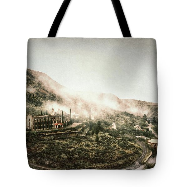 Abandoned Hotel In The Fog Tote Bag