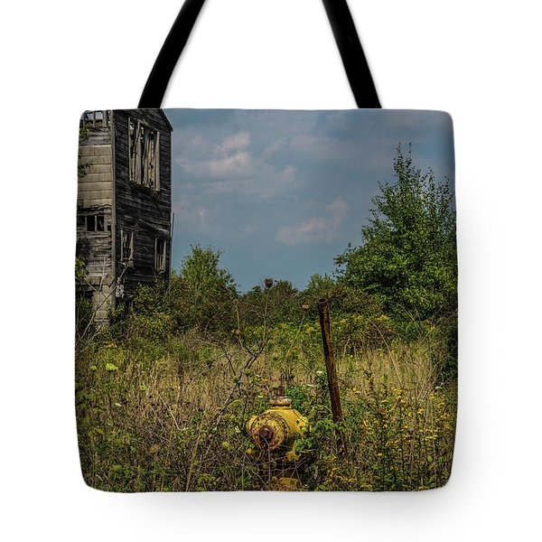 Abandoned Hydrant Tote Bag